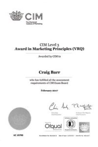 55 Web Design Edinburgh CIM Certificate